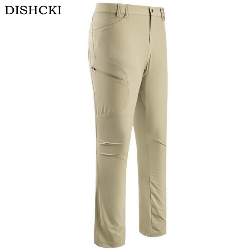 DICHSKI 2017 New Men Women Autumn Waterproof Tactical Military Sports Pant Male Outdoor Multi-pockets Hiking Loose Style Trouses outdoor sports pockets sv012199