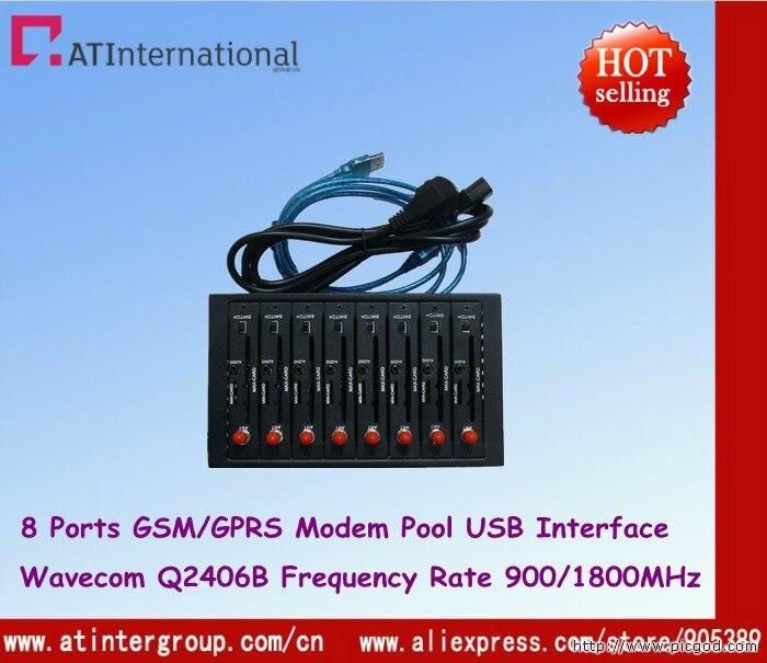 Q2406B Module 8 Ports GSM GPRS Modem Pool USB 900 1800MHz IMEI change