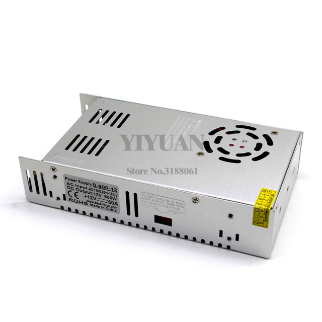 Single Output Small Volume 600W 12V 50A Switching power supply Transformers AC110V 220V TO DC12V SMPS for Led CCTV 3D Printer