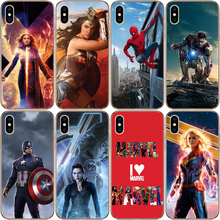Fashion Phone Case For iPhone X XS MAX XR 8 7 6 6S 7Plus 5 5s SE Miracle Hero Iron Man Spiderman Soft Silicone TPU Painted Cover