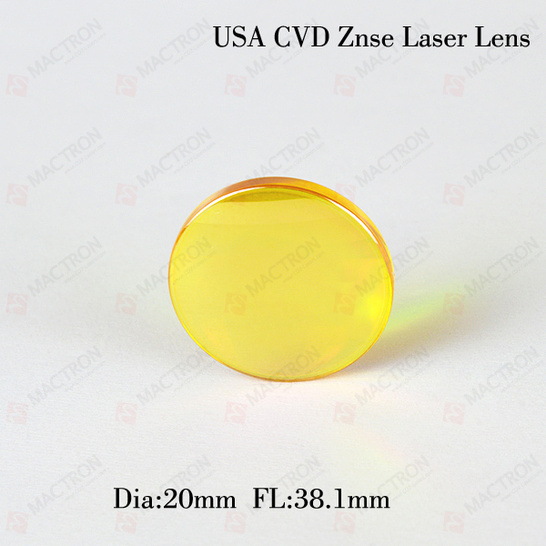 Dia.20mm, FL 38.1mm USA Co2 Laser Focus Lens cvd znse co2 laser focus lens with diameter 18mm focus length 38 1mm thickness 2mm