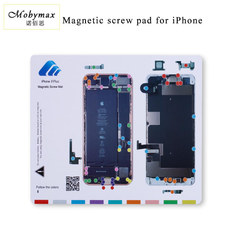 Professional magnetic screw mat work pad for iphone 4 4s 5s 5c 8 8p X iphone Repair tools one set