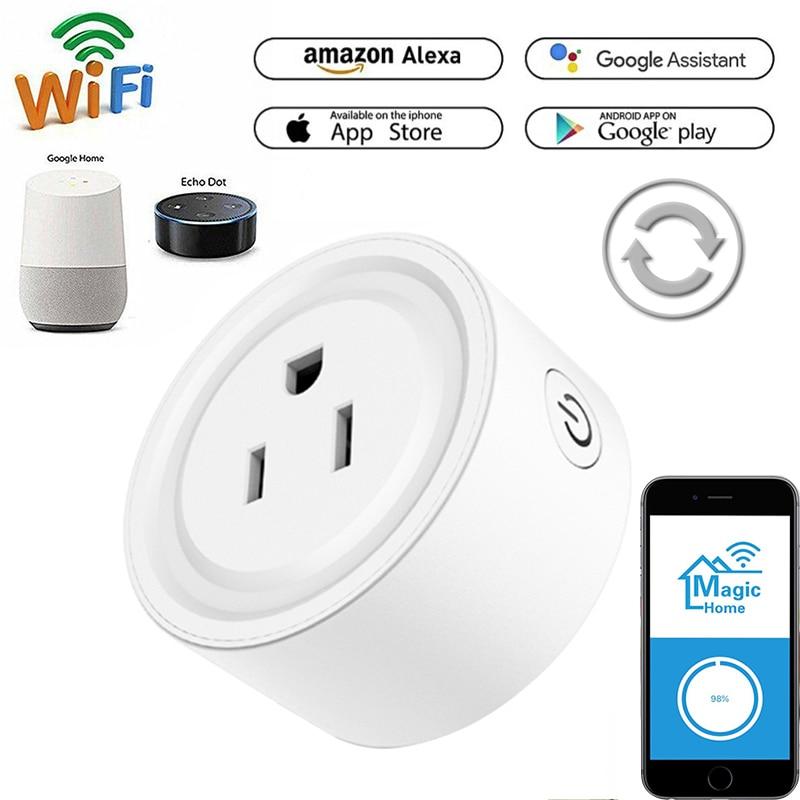 Wi-Fi умная розетка США вилка Зарядка ток mornitoring мощность планировка защита от перегрева управление с помощью приложения Magic Home Pro
