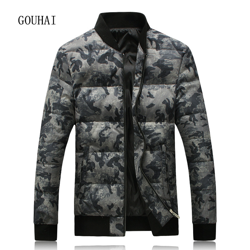 Brand Clothing Jackets Thick Keep Warm Men Down Jacket High Quality Camouflage Fur Collar Hooded Down Jacket Winter Coat Male