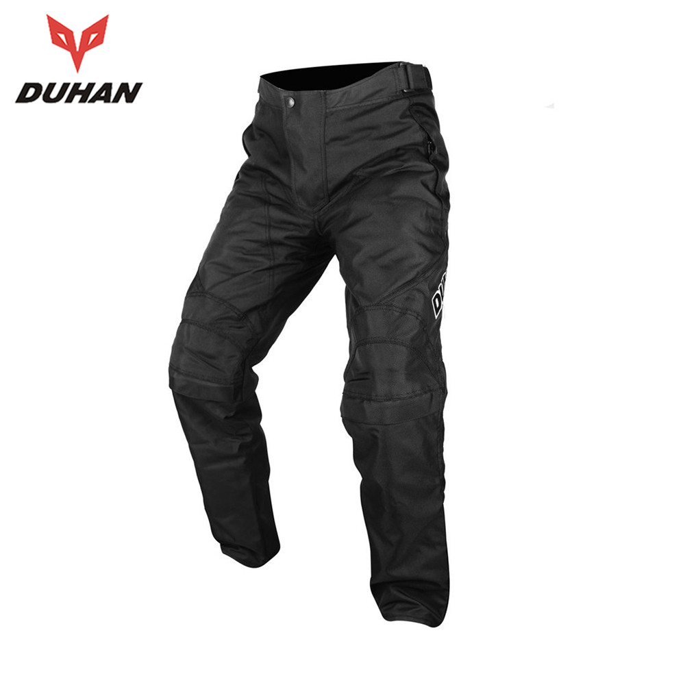 ФОТО DUHAN Motorcycle Cotton & Nylon Pants Windproof Motorcycle Riding Pants Mens Motocross Trousers Moto Winter Trousers