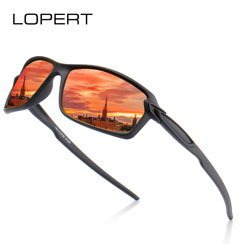 LOPERT  Sunglasses Men Polarized Vintage Mens Brand Designer Sun Glasses For Driving Sport Goggles UV400
