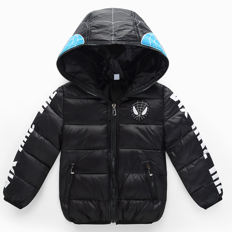 High Quality Boy Girls Winter Down Jacket Outerwear Children Spiderman Zipper Hooded Down Coats Baby Boys Warm Clothes high quality children winter outerwear 2017 baby girls down coats jacket long style warm thickening kids outdoor snow proof coat