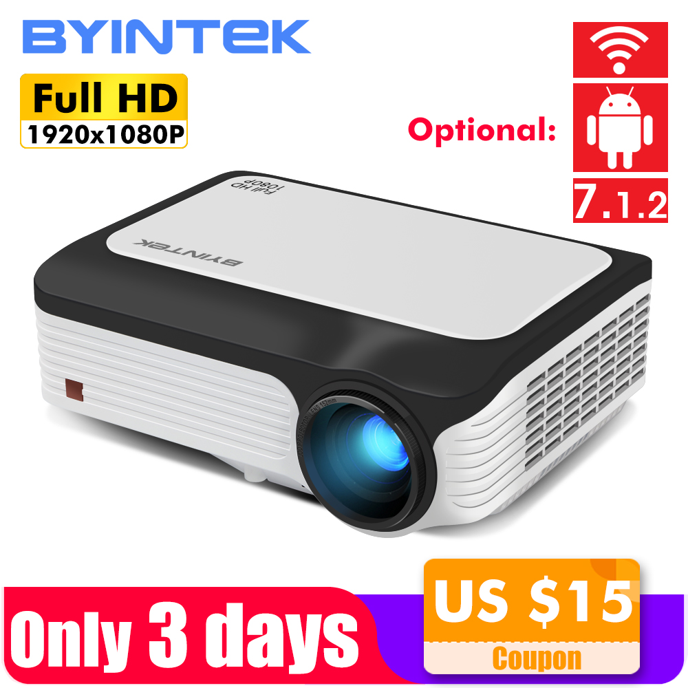 BYINTEK M1080 Smart (2GB+16GB) Android WIFI FULL HD 1080P Portable LED Mini Projector 1920x1080 LCD Video For Iphone SmartPhoneBYINTEK M1080 Smart (2GB+16GB) Android WIFI FULL HD 1080P Portable LED Mini Projector 1920x1080 LCD Video For Iphone SmartPhone
