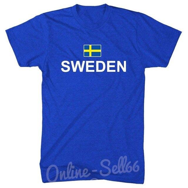 3aa96194ddb ... manga corta Camisetas cuello Suecia bandera + T camisa país futbolista  Rugbyer verano Tops Tees. 2019 Hot Sales Men S Short Sleeve O Neck T Shirts  ...