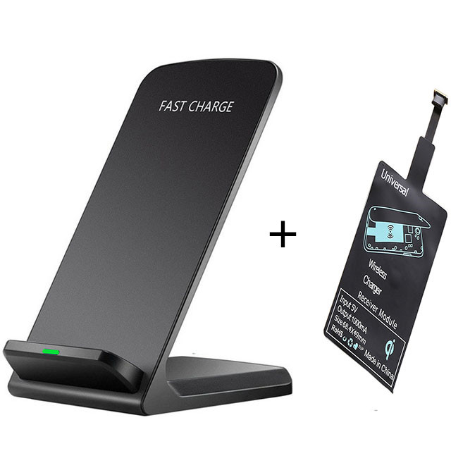 Qi Universal Wireless Charging Kit Charger Adapter Receptor Pad Coil Receiver For iPhone 5 XS Max