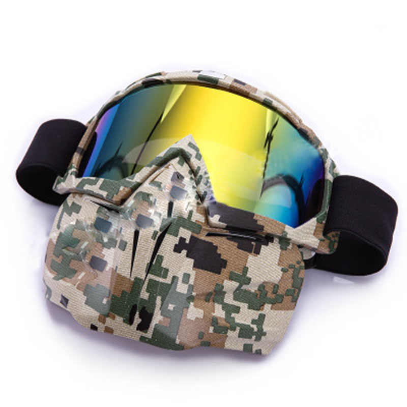 1 Pcs Skiing Glasses Detachable Snow Double Lens Snowboard Goggles Ski Mask Riding Glasses Anti-fog Windproof Skiing Equipment