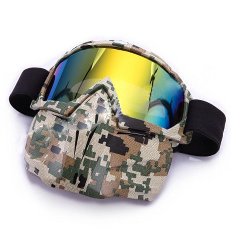 1 Pcs Skiing Glasses Detachable Snow Double Lens Snowboard Goggles Ski Mask Riding Glasses Anti-fog Windproof Skiing Equipment