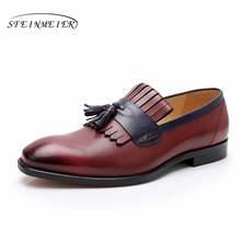 Mens formal shoes leather men dress oxford shoes for men dressing wedding business office shoes tassel male zapatos de hombre