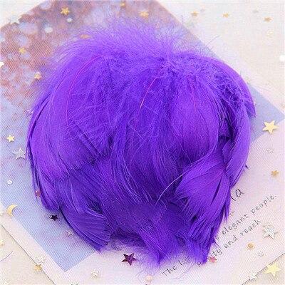 Натуральные гусиные перья 4-8 см, маленькие плавающие цветные перья лебедя, Плюм для рукоделия, свадебные украшения, украшения для дома, 100 шт - Цвет: dk Purple 100pcs