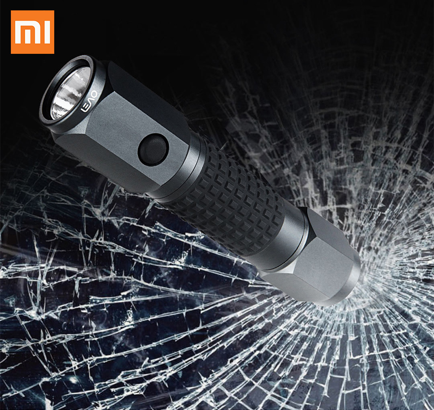 Xiaomi Leao Car Safety Hammer Multi-Function Car Emergency Tools Waterproof Electric Torch Seat Belt Cutter Outdoor Life Saving