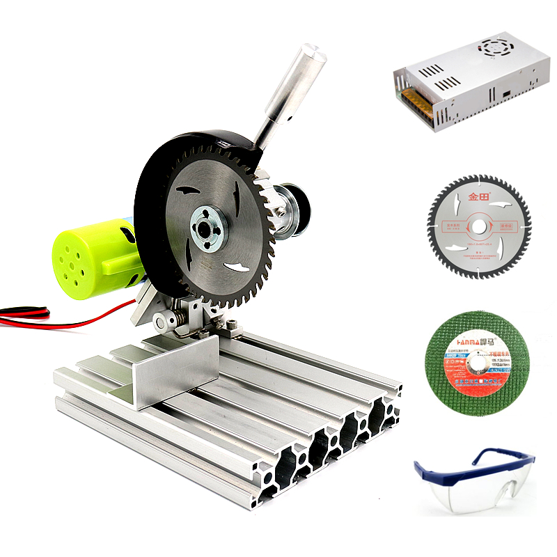Aluminum Mini Table Saw High Precision Cutting Machine DIY Hobby Model Carpentry Chainsaw Woodworking Bench Lathe Electric Saw