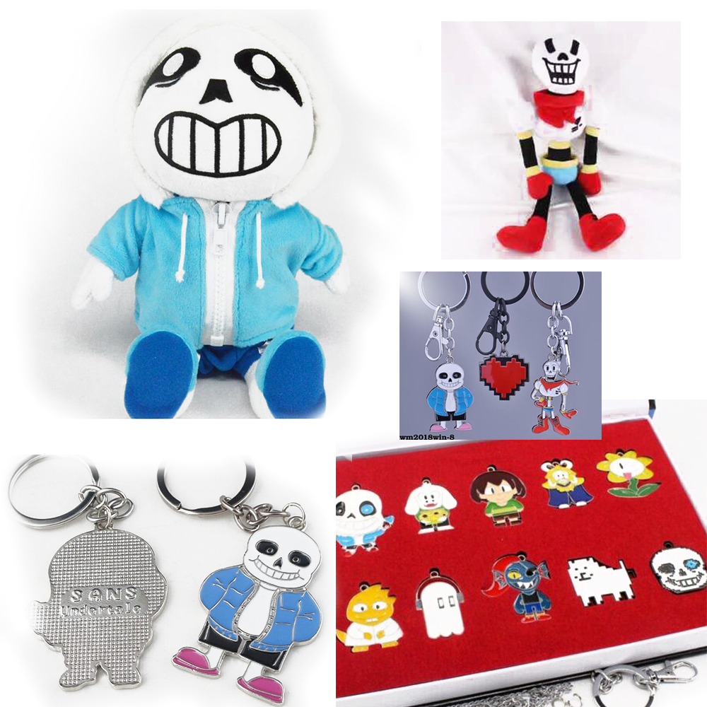 Sale! Undertale Sans Toy Plush Stuffed Doll Undertale Sans Keychain Pendant Alloy Plush Kids Gift for Undertale Collection Fans