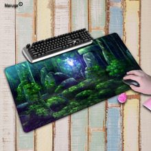 Mairuige Forest Tree Stone Large Gaming Mouse Pad Lockedge Mouse Mat Keyboard Pad Mousepad For Laptop Computer Notebook Desk Mat 63 33 large soft felt cloth desktop mouse pad keyboard office laptop notebook pc table mat home office computer desk mousepad