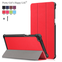 Per Lenovo Tab 7 TB 7504F Tablet Case Cover For Lenovo Tab 4 7 TB 7504X/F/N Astuto di Vibrazione cuoio Del Basamento Capa Fundas + Stylus