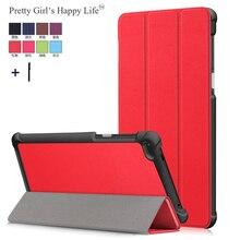 Voor Lenovo Tab 7 TB 7504F Tablet Case Cover Lenovo Tab 4 7 TB 7504X/F/N Smart Flip lederen Stand Capa Fundas + Stylus
