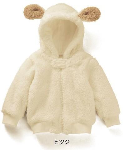 Bebé recién nacido bebé unisex invierno sherpa sudadera con capucha chaquetas de lana de dibujos animados bebé niños sudadera con capucha de la cremallera blanco Batido de desgaste nieve abrigo