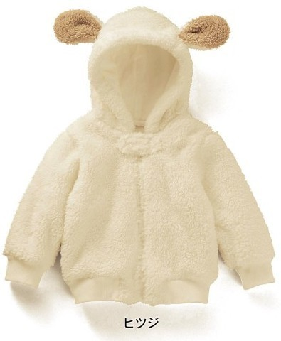 newborn baby unisex baby winter sherpa hoodie cartoon fleece baby jackets children hoodie zipper Shake white snow wear coat