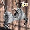 Mujer Crochet Bikini Top 11