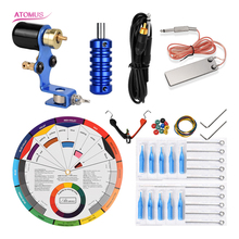 Tattoo Pen Set Rotary Machine Tatoo Kit Gun Equipamento Studio De Tatuaje Nueva Llega Clip Cord Tip Needle Needling Pedal