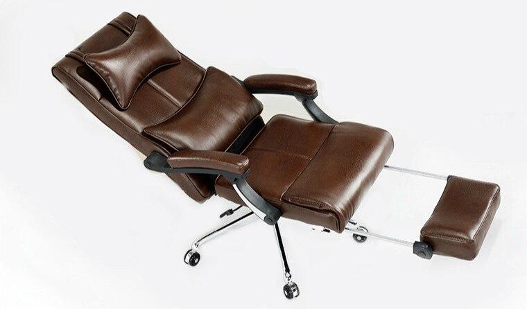 Luxe en comfortabele bureaustoel op de baas computer stoel platte