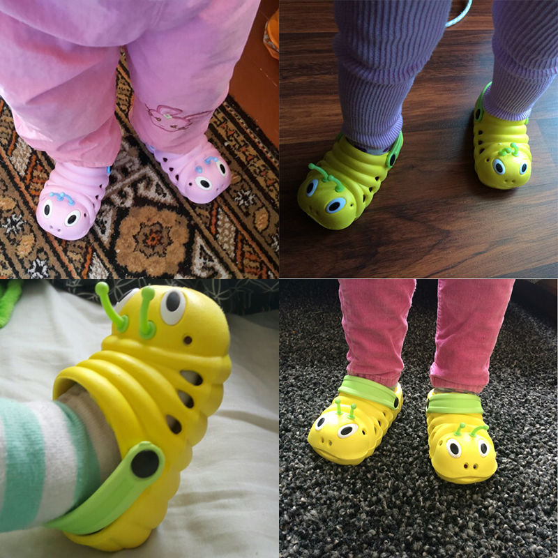 New 2016 Kids summer sandal Cute caterpillar garden shoes Child boys and girls baby sandals indoor slippers slip Children's hot