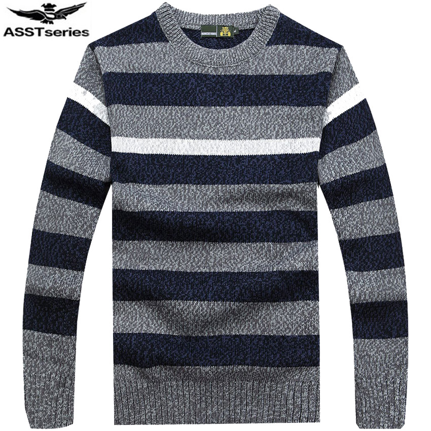 free shipping AFS JEEP brand high quality O neck style sweater striped more colors choic ...