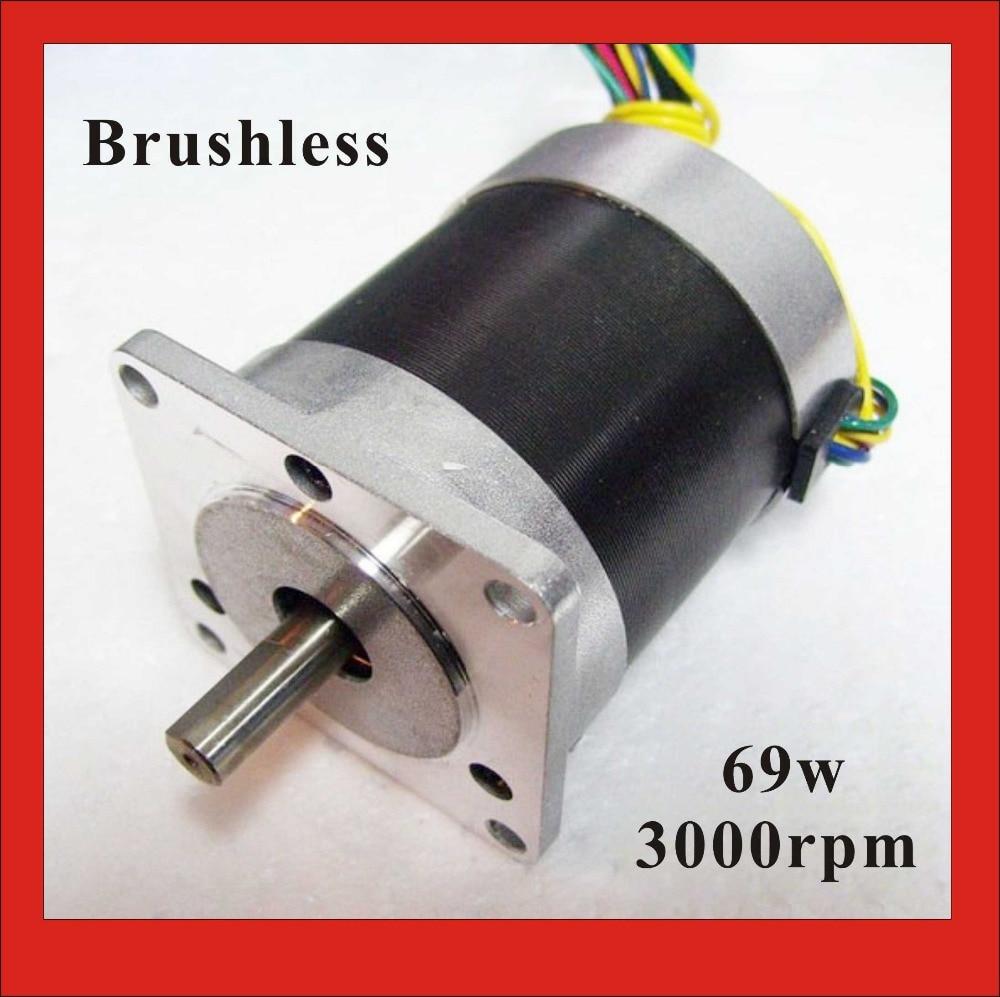 24V 57 Brushless DC Motor 69W 3000rpm nema 23 BLDC Motor 3Phase 30.6oz-in