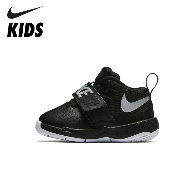 NIKE Kids TEAM HUSTLE D 8 New Arrival Toddler Sneakers Basketball Kid's Running Shoes Breathable 881943 vintage round collar long sleeve embroidered organza dress for women page 7