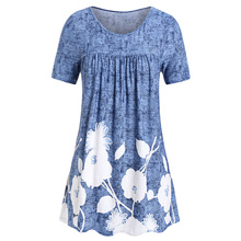 ROSE GAL Plus Size Printed Tie Dye T Shirt Long Tunic Women Summer Top Korean Casual Loose Tee Shirt Femme Modis Top T-Shirt plus size bowtie tie dye handkerchief t shirt