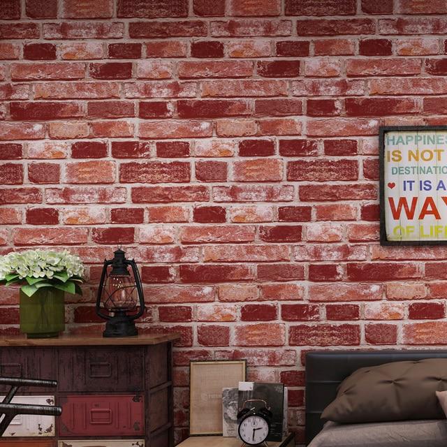 Ziegel Wand Papier Wohnzimmer Schlafzimmer Vintage 3d Effekt