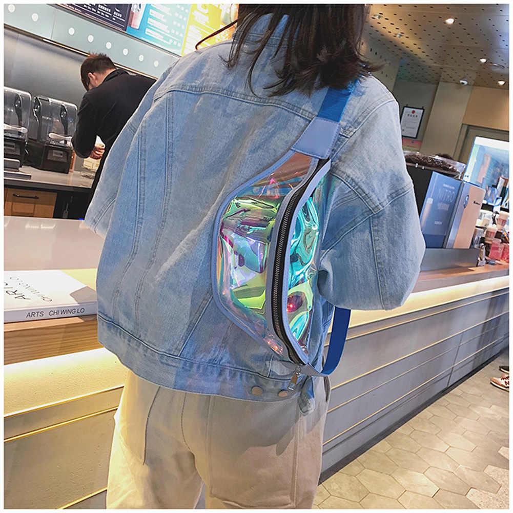 Fanny Pack Multi-function Steam Punk Fashion Bag Reflective Laser Shoulder Bag Women's Belt Waist Bag Bum Pochete