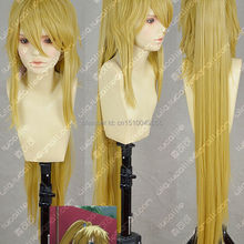 Brave10 Anna New long Golden Blonde Cosplay Costume Wig +Pon