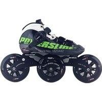 Powerslide C6 Roller skating shoes Carbon Fiber skate shoes with FIGHTER 3X125 super strength bracket
