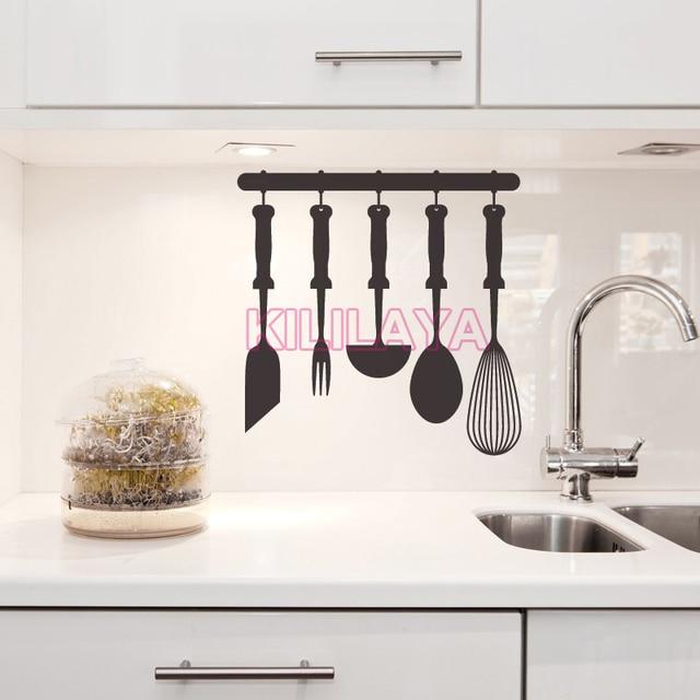 Stickers Cooking Tools Design Kitchen Vinyl Wall Sticker