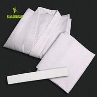 Adult Karate Uniform Breathable Dobok Taekwondo Belt Karate Suit Clothes For Kids Men White Uniform Free