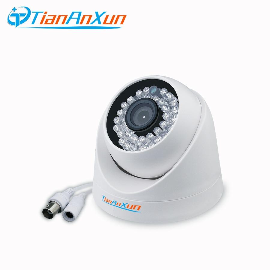 TIANANXUN 720P/1080P IR Mini Dome Analog AHD CCTV Camera indoor Wide Angle  IR CUT Night Vision HD Security Surveillance