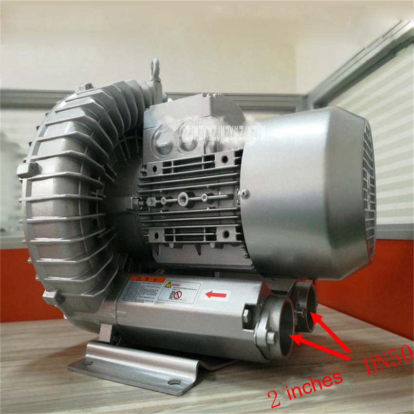 Haute Pression Air Blower 2RB710-7AH26 Pompe À Air Vortex Ventilateur Industriel Vide Régénératrice Ventilateur 3KW/3.45KW 220 v/380 v 50Hz/60Hz