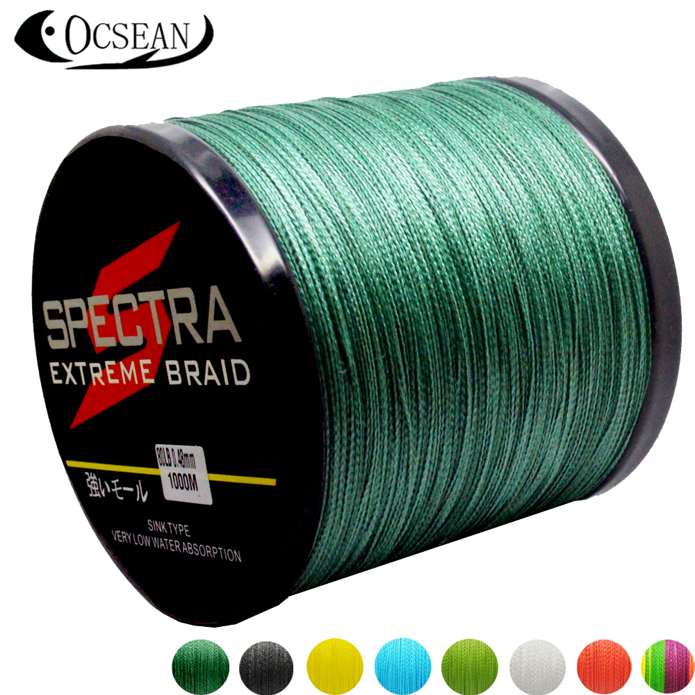 Spectra 1000m 10 80lb power pro pe braided fishing line 4 for Strong fishing line