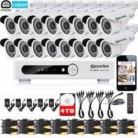 Эйедея 16ch удаленного доступа DVR 2.0mp 5500tvl CMOS напольный Ночное Видение видеонаблюдения Камера Товары теле- и видеонаблюдения Системы 4 ТБ компл...