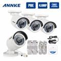 Annke 4 embalado 4.0 megapixels hd poe bala câmeras de segurança, 30 m Faixa de IR Night Vision com Auto IR-cut, IP66 À Prova de Intempéries de Metal