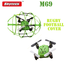 Skytech M69 4CH 360 Flips 2.4GHz Climb RC Quadcopter Drone w 6-Axis Gyro with Rugby Football Protective Cover RTF