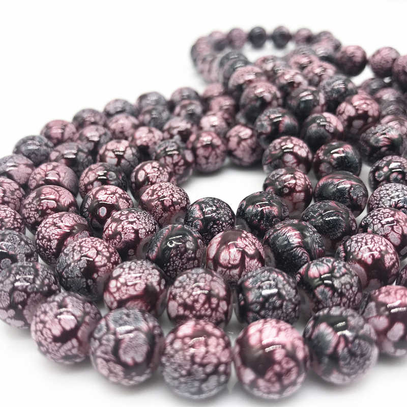 Wholesale 6 8 10 mm Glass Loose Spacer Charm Beads Pattern Making Bracelet Necklace Jewelry #10