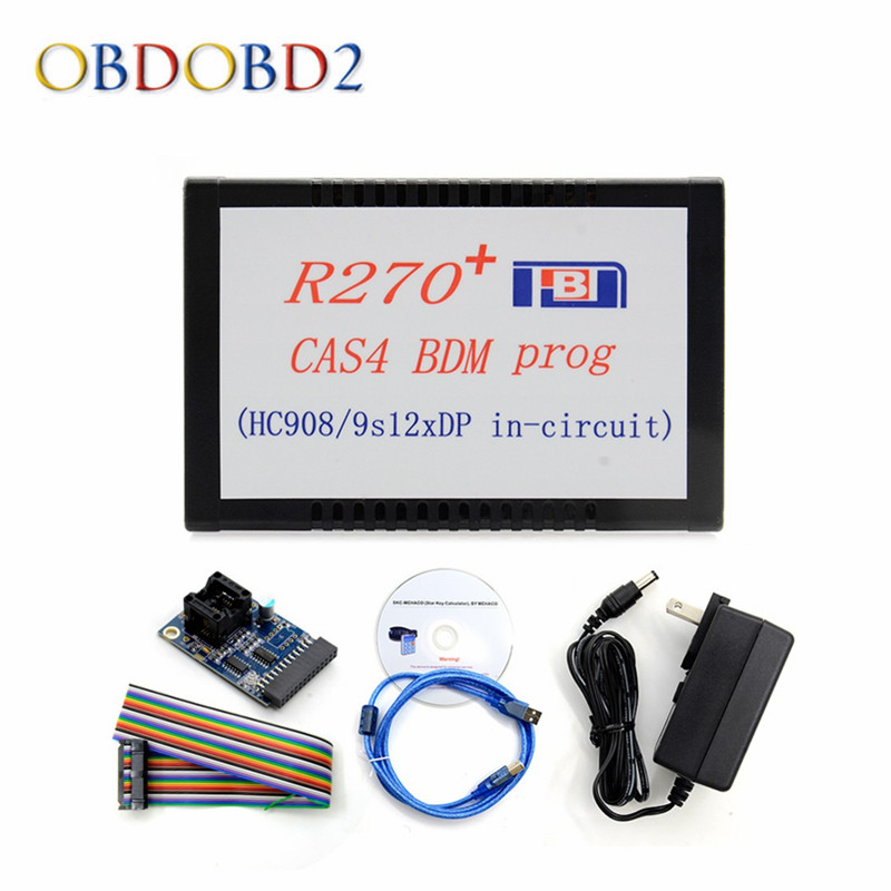 Newest R270+ V1.20 CAS4 BDM Prog R270 CAS4 BDM Auto Key Programmer For BMW Key Prog/Motorola MCU EEPROM Car Diagnostic Free Ship недорго, оригинальная цена