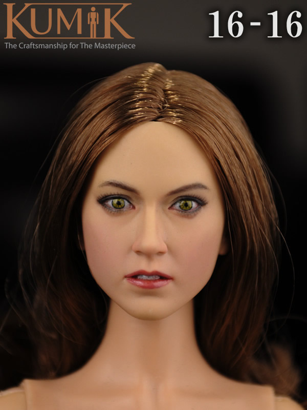 KUMIK 16-1 1:6 Scale female Figure accessories head shape carved for 12 Action figure doll,not include clothes;body and other cheap hot 1 6 kumik fs 16 female shoes boots black color for 12 figure body toys accessories