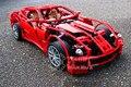 Decool 3333 гоночных Фер автомобиль rari модельный ряд 1:10 Building Blocks Набор 1322 шт. Обучающие Jigsaw Просвещения DIY игрушки для дети
